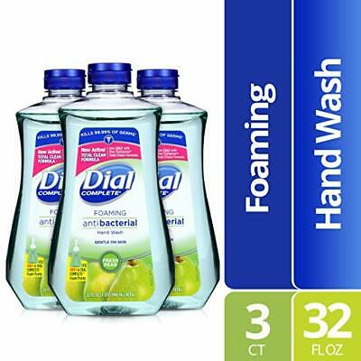 Dial Complete Antibacterial Foaming Hand Soap Refill, Fresh Pear, 32 oz, 3 Pack