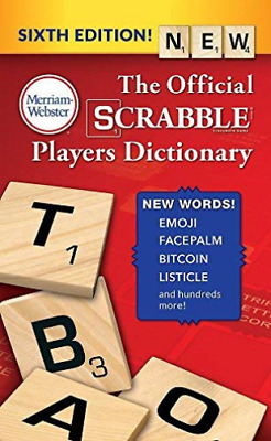 Merriam-Webster (Cor)-The Official Scrabble Players Dictionary BOOK NEW