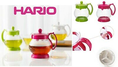 Hario Jumping Leaf Tea Pot Teapot White 350 - 500ml from JAPAN