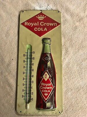 Royal Crown Cola RC advertising thermometer