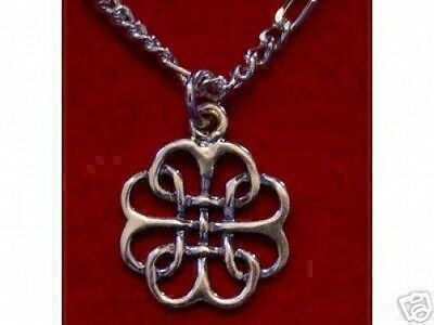 LOOK 0269 Celtic Infinity Knot Silver Pendant Charm Jewelry