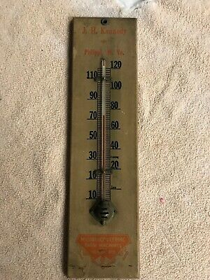 J. W. Kennedy McCormick Deering advertising thermometer...Phillipi, WV