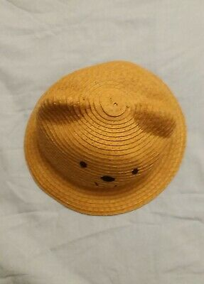New the childrens place 0-6 months baby infant natural hat 50% off tag