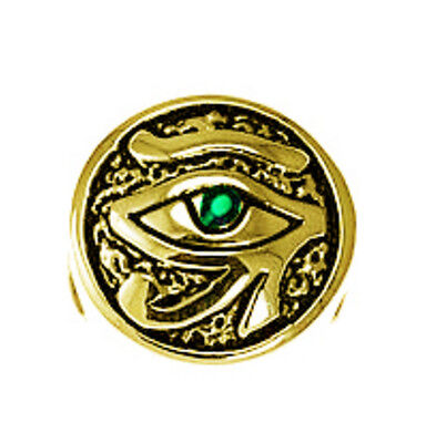 LOOK Gold pltd Silver 925 Egyptian Emerald Eye of Horus European BEAD Charm jewe