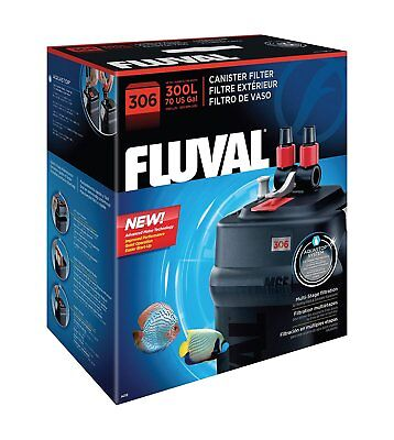 Fluval External Filter aquariums up to 75 gallons. Flow Rate: 1450 LPH, (306)