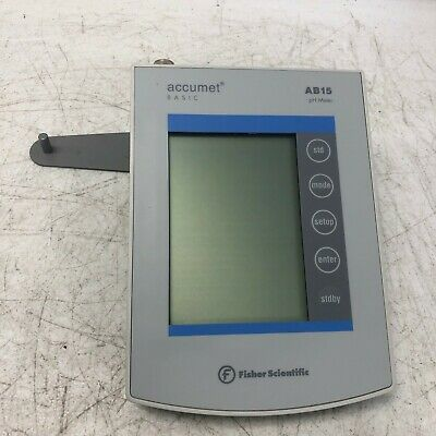Fisher Scientific Accumet Basic AB15 pH Meter w/o Power Adapter Unit Only