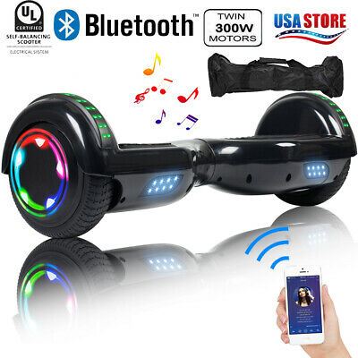 "6.5"" Bluetooth Self Balancing 2 Wheel Electric Scooter Hoverboard UL2272+Led+Bag"