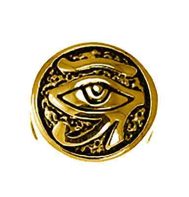 LOOK Gold pltd Sterling Silver Egyptian Eye of Horus BEAD Charm fits jewelry bra