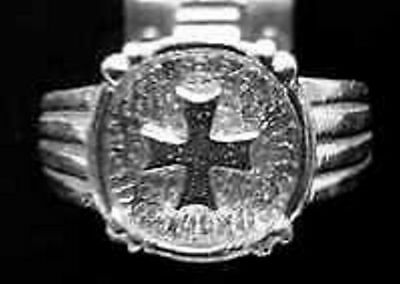 LOOK Celtic Maltese Ring Sterling Silver 925 Jewelry Cross