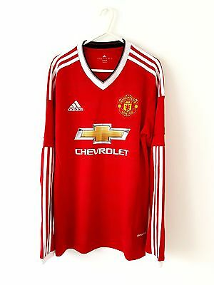Manchester United Home Shirt 2015. Small Adults. Adidas. Red S Man Utd Top Only.