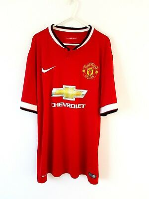Manchester United Home Shirt 2014. XL. Nike Red Adults Man Utd Football Top Only