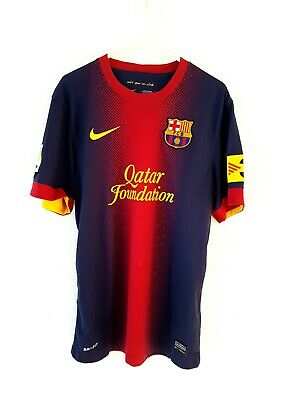 Barcelona Home Shirt 2012. Small Adults. Nike. Red Short Sleeves Football Top.