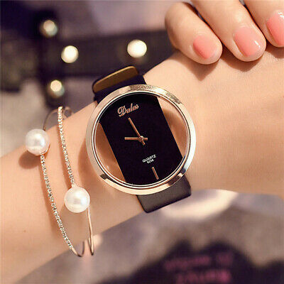 Fashion Girl Women Classic Casual Quartz Watch Leather Strap Wrist Watches YK