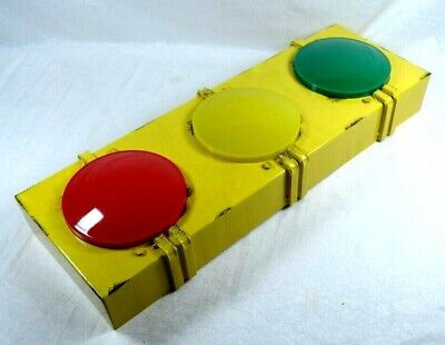 "9"" x 23"" Traffic Signal Stop Light Red Green Yellow Decor Battery Operated"