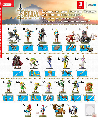 Zelda Breath Of The Wild Amiibo (You Pick Your Character) Tags Only - Switch