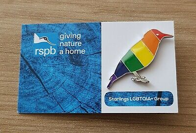 "Brand New ""VERY RARE RSPB LGBT STARLING"" Pin Badge (SAME DAY DISPATCH !!)"