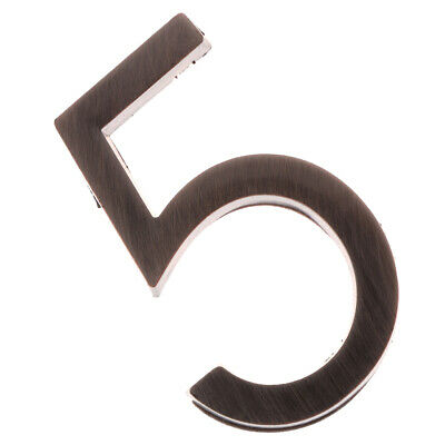 Bronze ABS Plastic Self-Adhesive  Door Numbers Personalized House Address Sign 5