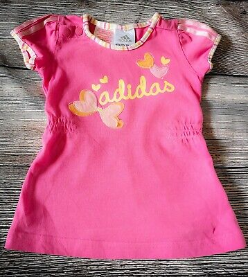 Adidas Baby Girls Dress 0-3 Months Pink Butterfly Outfit *Gorgeous*