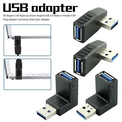 90 Degree Usb Left Right Up Down Angled USB 3.0 Male to Female FM Plug Adapter