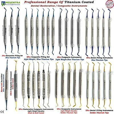 Dental Titanium Coated Restorative Composite Filling Instruments Light Weight CE