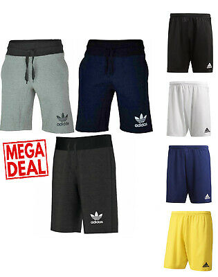Adidas 3 Stripe Mens Shorts Originals Summer Gym Fitness Cotton New Fleece Sweat