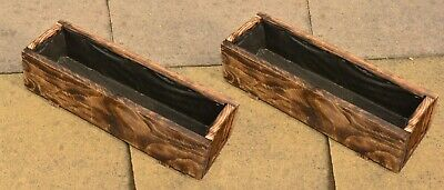 Pack of 2 Wooden Garden Planter Wood Flowers Pot Herbs Patio Planter 80cm