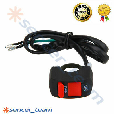 7/8'' Motorcycle Handlebar Scooter ATV Dirt Bike Kill Stop ON-OFF Button Switch