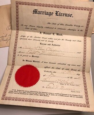 OLD MARRIAGE LICENSE w Frame 1947 Colorful - $5 99 | PicClick