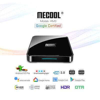 2019 NEW Android 9.0 Pie Quad Core Smart TV BOX 4K Media Player 2.4G WIFI 4G+64G