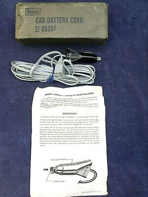 Vintage NOS SEARS #89951 Car Power Cord for Sears Model 6100 & 6101 Portable TVs