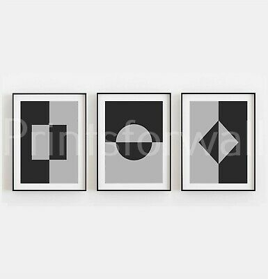 Set of 3 Home Prints Home Abstract Print Picture Geometric Print Wall Decor Art
