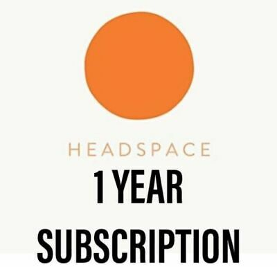 Headspace 12 Month Subscription Meditation Mindfulness App 1 Year iPhone Android