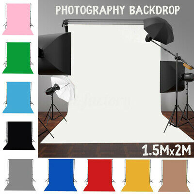 5x7ft Solid Color Photography Background Screen Cotton Studio Backdrop Photo