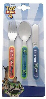 Disney Toy Story 3 Piece Metal Stainless Steel Cutlery Brand New Gift
