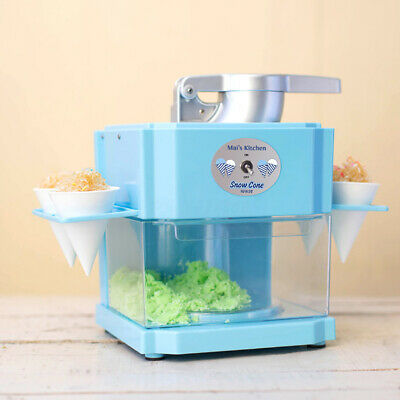 Electric Ice Cube Crusher Shaver Snow Cone Maker DIY Slushy Sand Machine 90W