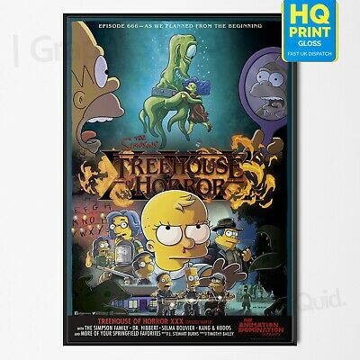 The Simpsons Stranger Things 3 Halloween Poster TV Series Art | A4 A3 A2 A1 |