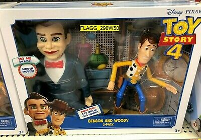 Toy Story 4 Movie *BENSON & WOODY* 2 Pack Dummy Mouth Moves Poseable Disney 2019