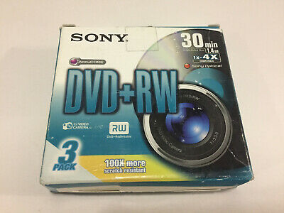 3 x DVD+RW mini DVD for Camcorder SONY 4X individually sealed
