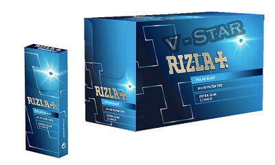 New Rizla Polar Blast Extra Slim Menthol Smoking Rolling Filter Tips - 24 Packs