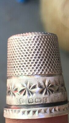 Rare Antique  Sterling Silver Sewing Thimble