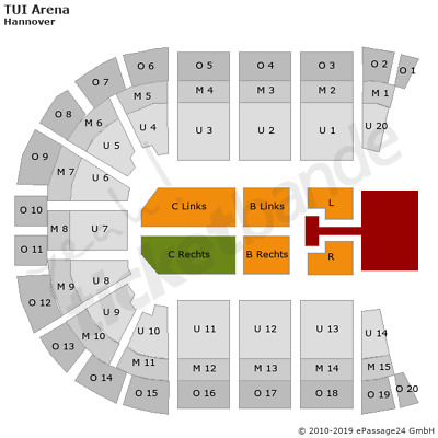 The Kelly Family Hannover Tickets 05.12. Innenraum Sitzplatz