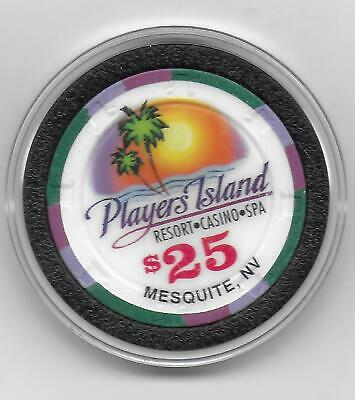 Obsolete $25 Casino Chip From PLAYER'S ISLAND_Mesquite, Nv.-CG043603-C-1997