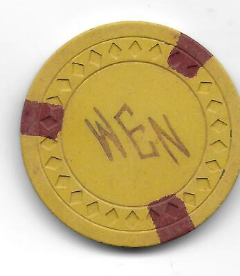 Obsolete Illegal Casino Chip Marked WEN (Bonita Club)-Kemah, Tx.-CG156530-Closed
