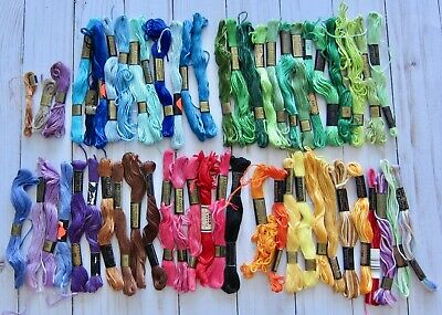J& P Coats Embroidery Floss Lot of 50 Skeins Various Colors
