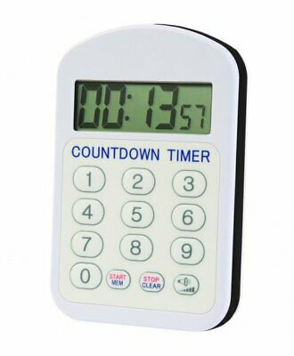 Waterproof countdown kitchen cooking timer with large display and buttons