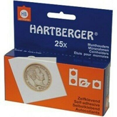 Hartberger Self Adhesive Coin Holders (Assorted) Pack of 25  -- DETECNICKS LTD