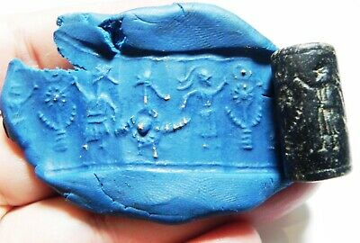 Zurqieh - As13470-  Ancient Near Eastern Stone Cylinder Seal. 1400 - 1200  B.c