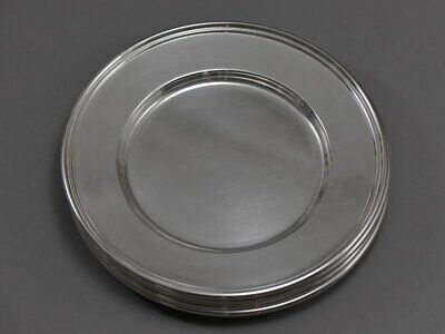 "4 Sterling Silver Dessert Plates 6"" American New Hampshire Vintage"