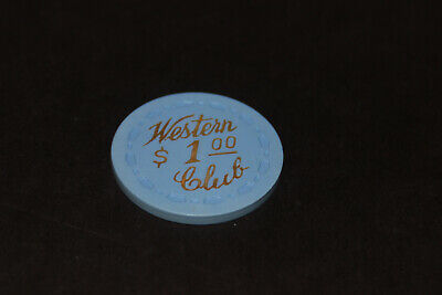 Western Club $1 Casino Chip 1955 Gardena Ca Not Las Vegas Nv