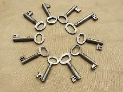 Qty 10 Antique Victorian Iron Keys For Cupboards Drawers Boxes Etc Vintage Key